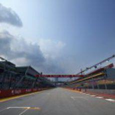 Recta principal del GP de Singapur 2012