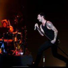 Maroon 5 de concierto en Singapur 2012
