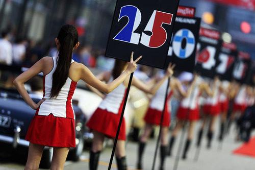 Las 'pit babes' del GP de Singapur 2012