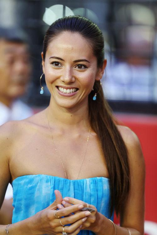 Jessica Michibata en el GP de Singapur 2012
