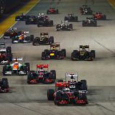 Salida del GP de Singapur 2012