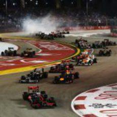 Primeras curvas del GP de Singapur 2012