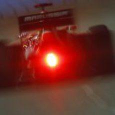 Luz de lluvia en el Marussia MR01