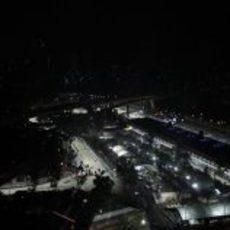 La iluminación en Singapur destaca en el paisaje