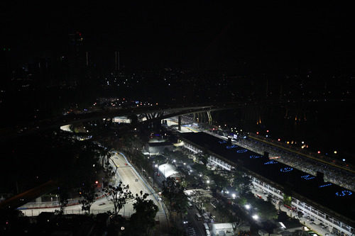 El montaje del Gran Premio de Singapur