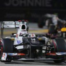 Kamui Kobayashi se quedo sin puntos en Singapur