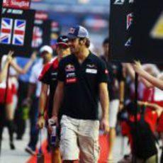 Jean-Eric Vergne, al frente del Drivers Parade
