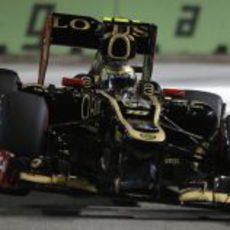 Romain Grosjean se quedó fuera de la Q3 en Singapur