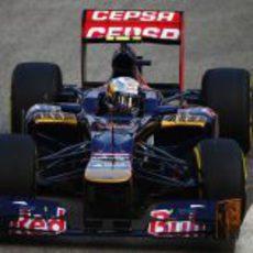 Jean-Eric Vergne entró con el STR7 en la Q2