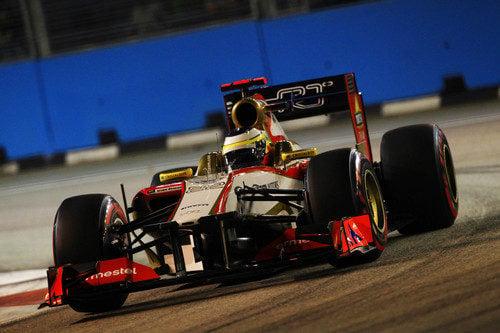 Pedro de la Rosa clasificó último en Singapur