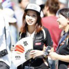 Fans de Lotus en el circuito de Suzuka