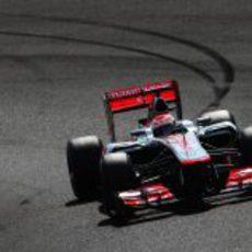 Jenson Button en la clasificación del GP de Japón 2012