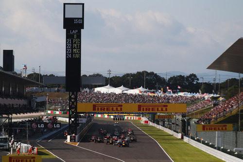 Salida del GP de Japón 2012