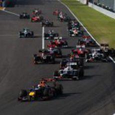 Primera curva del GP de Japón 2012