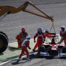 Fernando Alonso abandona en el GP de Japón 2012