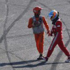 Fernando Alonso se retira del GP de Japón 2012