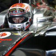 Jenson Button se prepara para disputar el GP de Japón