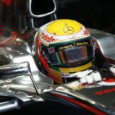 Lewis Hamilton momentos antes de la carrera de Japón