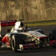 Lewis Hamilton terminó quinto el GP de Japón 2012