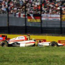 Pedro de la Rosa acabó contento la carrera en Suzuka