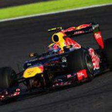 Mark Webber cruzó noveno la línea de meta en Japón