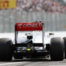 'Tooned' en el alerón trasero de McLaren