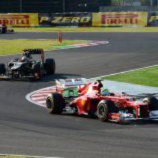 Felipe Massa exprimió al máximo el F2012 en Japón