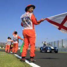 Pastor Maldonado en el 'Drivers Parade'