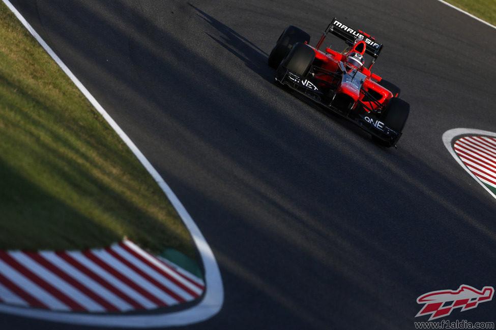Timo Glock completó una carrera sin problemas en Japón