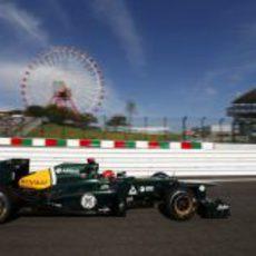 Heikki Kovalainen prueba el CT01 en Japón