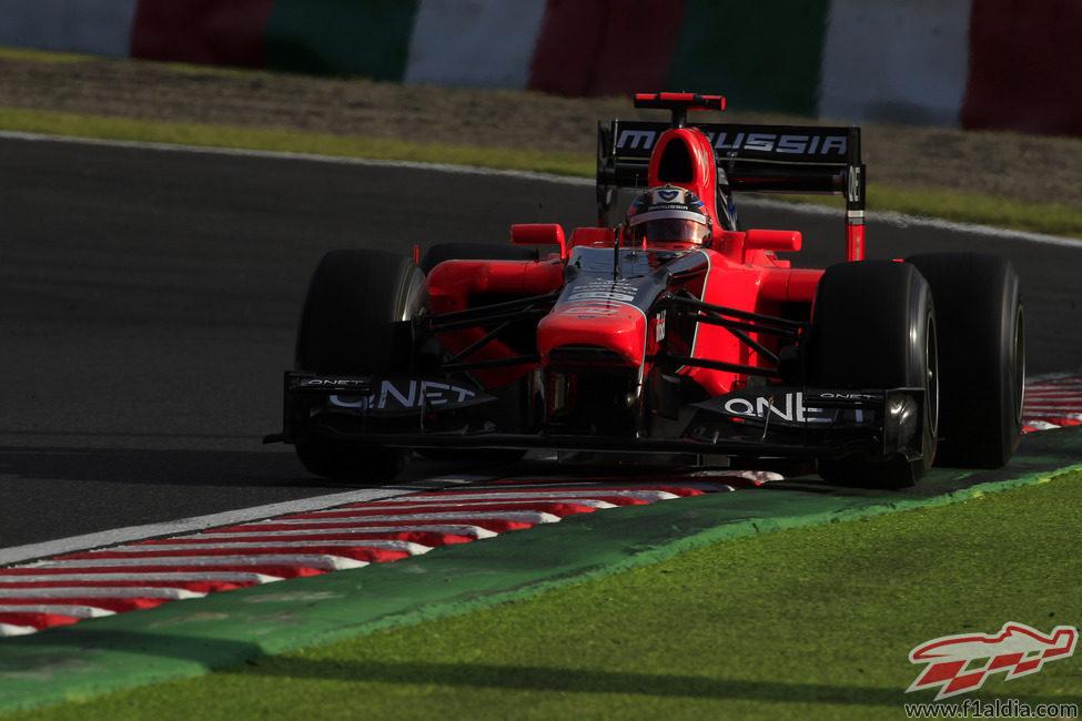 Timo Glock prueba las mejoras de Marussia en los Libres 1