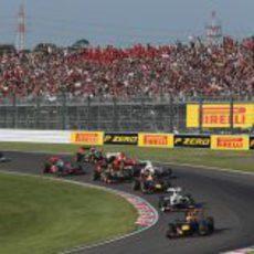 Salida del Gran Premio de Japón 2012