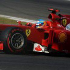 Fernando Alonso con neumáticos superblandos en Corea 2012