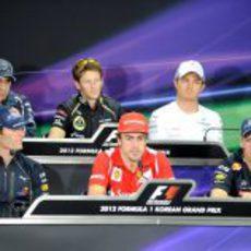 Rueda de prensa FIA del jueves en el GP de Corea 2012