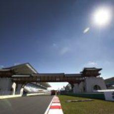 Recta de meta del circuito de Yeongam en el GP de Corea 2012