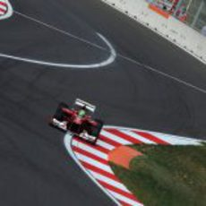 Felipe Massa prueba el F2012 en Yeongam