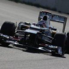 Kamui Kobayashi completa los Libres 1 del GP de Corea 2012