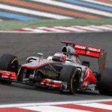 Jenson Button con neumáticos blandos en la clasificación de Corea