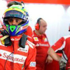 Felipe Massa, preparado para salir a la clasificación de Corea