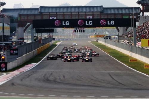 Salida del GP de Corea 2012