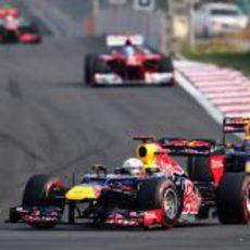 Sebastian Vettel lidera del GP de Corea 2012