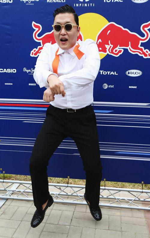 PSY con Red Bull en el GP de Corea 2012