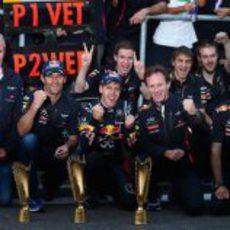 Red Bull celebra el doblete en el GP de Corea 2012