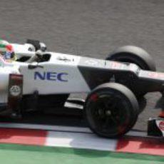 Sergio Pérez salió sexto en la parrilla de Japón