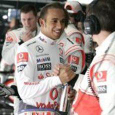Hamilton contento con su cuarto puesto