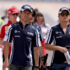 Los dos pilotos de Williams