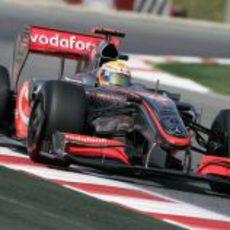 Lewis Hamilton en Barcelona