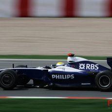 Nico Rosberg clasificando en Montlemó