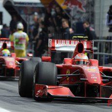 Massa y Raikkonen en España 2009