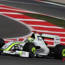 Jenson Button en Montmeló